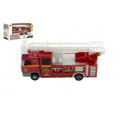 Dromader Auto hasiči městské služby plast 17cm na baterie se zvukem se světlem v krabici 19x10x7cm