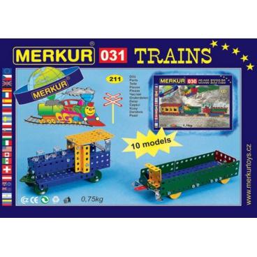 MERKUR M031 kovová stavebnice Železniční modely