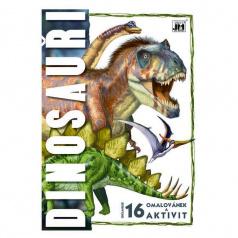 Jiri Models omalovánka A4 Dinosauři