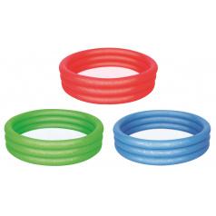Bestway Nafukovací bazén 3 barvy (červená, zelená, modrá), průměr 122 cm, výška 25 cm