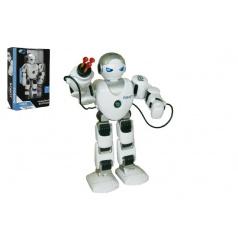Teddies Robot RC FOBOS Bojovník chodící plast 40cm na baterie a USB připojení v krabici 31x44x13cm CZ design