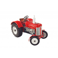 Kovap Traktor Zetor 50 Super červený na klíček kov 15cm 1:25