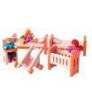 WOODY 90613 Nábytek do domečku - dětský pokoj