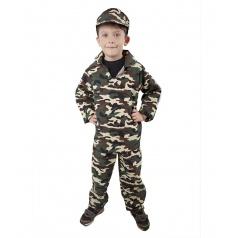 Dětský karnevalový kostým ARMY - voják, dětský, vel. M