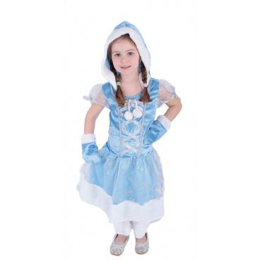 Dětský karnevalový kostým Frozen princezna Elsa kožíšková zimní , velikost S