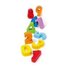 Hape Dřevěné barevné číslice