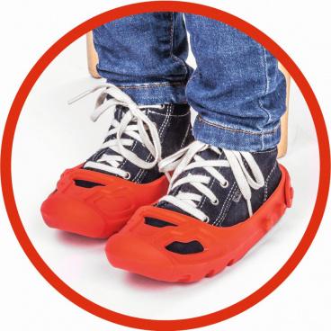 Big Bobby Car BIG Ochranné návleky na botičky červené