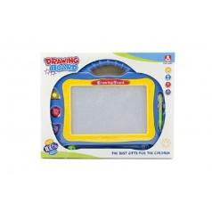 Teddies Magnetická tabuľka kresliace plast asst 2 farby v krabici 31x24x2cm