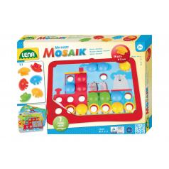 Lena Mozaika klobouček doprava 3,2cm hladký 36ks + předlohy 7ks pro nejmenší v krabici 33x24x4 24m+