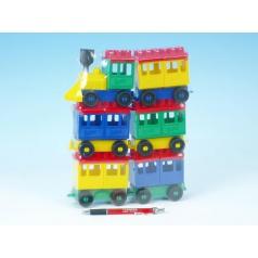 LORI Stavebnice LORI 8 vlak + 5 vagónků plast v sáčku 20x26x5cm