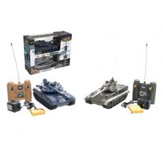 Tank RC 2ks 36cm+dobíjecí pack tanková bitva se zvukem se světlem v krabici