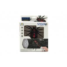 Teddies Pavúk na ovládanie IC plast 13cm na batérie v krabičke 19x24x5cm