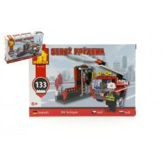 Dromader 21401 Hasiči Auto 133ks v krabici 22x15x4,5cm