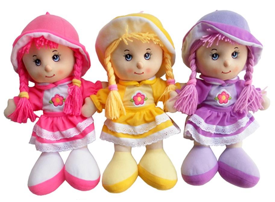 Dětská hadrová panenka Anička 35cm