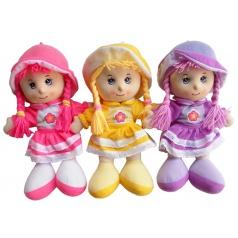 Mac Toys Dětská hadrová panenka Anička 35cm