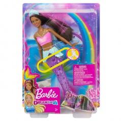 Mattel Barbie Svítící mořská panna s pohyblivým ocasem černoška GFL83