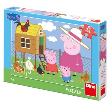 Dino Ostatní Dino dětské puzzle Peppa Pig: Slepičky 24 D