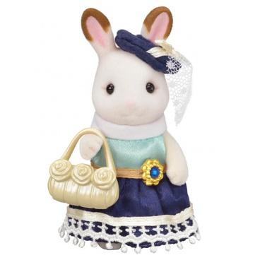 Sylvanian Families 6002 Město - chocolate králičice se žlutou kabelkou