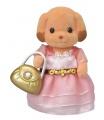 Sylvanian Families 6004 Město - pudlice v růžových šatech s kabelkou