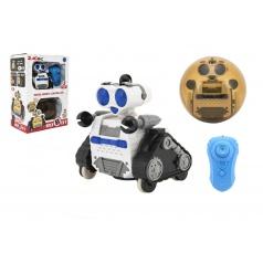 Teddies Robot RC plast pásový na dálkové ovládání s koulí v krabici 24x34x15cm
