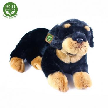 Rappa Plyšový pes rotvajler ležící 38 cm ECO-FRIENDLY