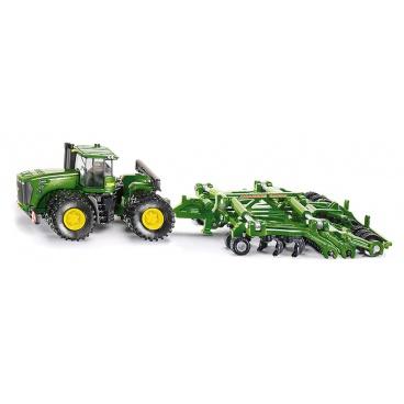 SIKU Farmer - Traktor John Deere 9630 s bránami  Amazone Centaur 1:87
