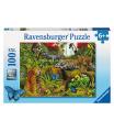 Ravensburger dětské puzzle Divoká džungle 100d