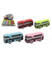Teddies Autobus patrový kov/plast na zpětné natažení 9,5cm 4 barvy