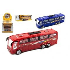 Teddies Autobus plast 25cm na setrvačník asst 3 barvy v krabici