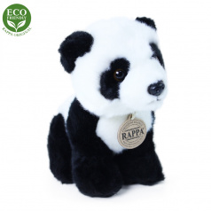 Rappa Plyšová panda sedící 18 cm ECO-FRIENDLY