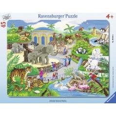 Ravensburger dětské puzzle Návštěva v ZOO   30-48d