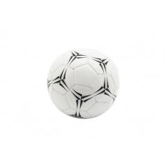 Teddies Lopta futbalový malý junior nafúknutý šitý 15cm kože 4 farby v sieťke