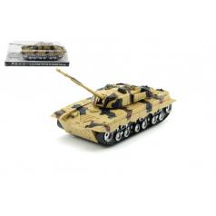 Tank plast 27cm na setrvačník na baterie se světlem se zvukem v krabičce