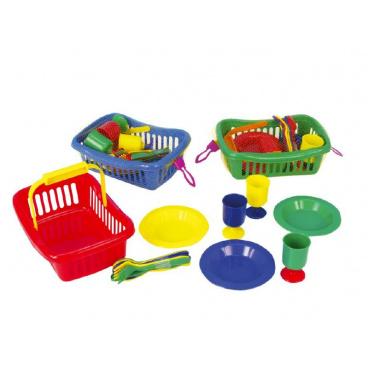 Teddies Riad v košíku plast 23cm asst 3 farby v sieťke
