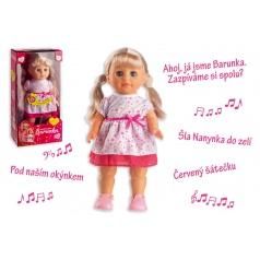 Teddies Bábika Barunka chodiaci a spievajúci plast 42cm na batérie so zvukom v krabici 21x44x11cm