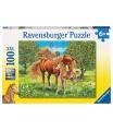 Ravensburger dětské puzzle Koně na pastvině 100 XXL dílků