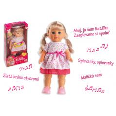 Teddies Panenka Natálka chodiaci a slovensky  spievajúc plast 42cm na batérie so zvukom v krabici 21x44x11cm