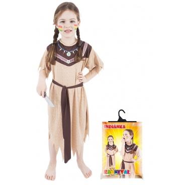 Rappa Dětský kostým Indiánka s páskem (S)