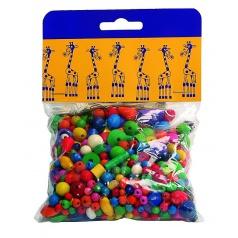 Detoa Mix dřevěných perlí 100g barevný