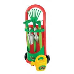 Ecoiffier Vozík se zahradním nářadím a konvičkou