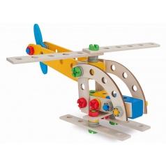 Simba HEROS Constructor Pojízdný jeřáb dřevěná stavebnice