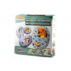 SMT Creatoys Malování na oblázky/kameny Dinosauří vejce kreativní sada v krabičce 15x14,5x4cm