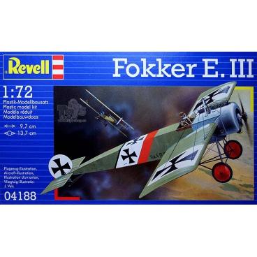 Revell Plastic ModelKit letadlo 04188 - Fokker E.III (1:72)