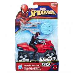 Hasbro 15 cm Spiderman na čtyřkolce