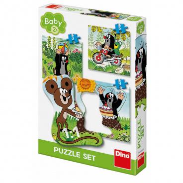Dino puzzle dětské Krtek na louce 3-5 baby puzzle