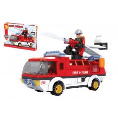 Dromader Kocky stavebnice Dromader auto hasiči 192 dielikov v krabici 35x25x5,5cm