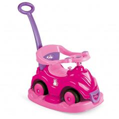 Dolu Odrážedlo autíčko s úsměvem 4 v 1, růžové, jednorožec