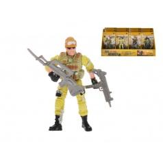 Voják plast 10cm s doplňky kloubový asst 6 druhů na kartě 12ks v DBX
