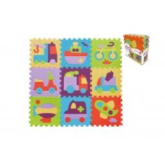 SMT Creatoys Pěnové puzzle dopravní prostředky asst mix barev 9ks 32x32x1cm