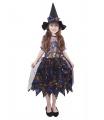 Rappa Dětský kostým čarodějnice barevná/Halloween (M)